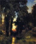 mission in old mexico by thomas moran painting