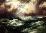 thomas moran moonlit seascape paintings
