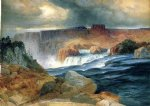 shoshone falls idaho by thomas moran painting
