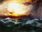 thomas moran sunset after a storm oil painting