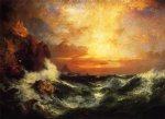 thomas moran sunset near land s end cornwall england painting