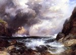 tantallon castle north berwick scotland by thomas moran painting