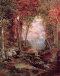 thomas moran the autumnal woods under the trees paintings