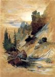 the devil s den on cascade creek by thomas moran painting