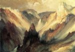 the grand canyon of the yellowstone ii by thomas moran painting