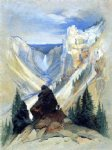 the grand canyon of the yellowstone by thomas moran painting