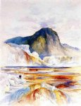 the hot springs of gardiners river upper pools by thomas moran painting