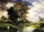the passing storm by thomas moran painting