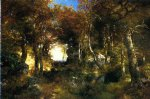 thomas moran the woodland pool painting
