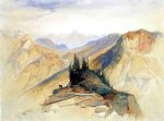 the yellowstone range near fort ellis by thomas moran painting