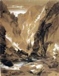 toltec gorge colorado by thomas moran painting