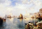venice the grand canal with the doge s palace by thomas moran painting