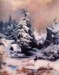 thomas moran winter in the rockies painting