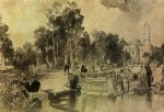 thomas moran women at the fountain vera cruz painting