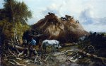 clearing the wood for the iron way by thomas sidney cooper painting