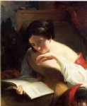 thomas sully portrait of a girl reading painting 24230