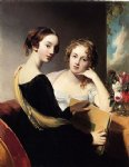 portrait painting - portrait of misses mary and emily mceuen by thomas sully