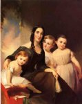 thomas sully portrait of mrs. james robb and her three children painting 24237