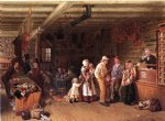 the village post office by thomas waterman wood painting