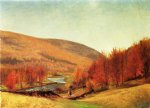 thomas worthington whittredge autumn landscape vermont oil painting