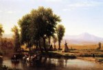 thomas worthington whittredge indian encampment on the platte river painting