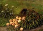 thomas worthington whittredge still life with peaches painting