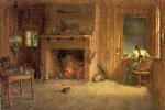 thomas worthington whittredge the club house sitting room at balsam lake catskills painting
