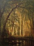 the old hunting ground ii by thomas worthington whittredge painting