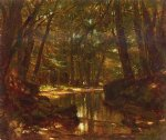 trout stream by thomas worthington whittredge painting