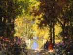 tom mostyn paintings - sunshine by tom mostyn