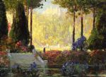 tom mostyn paintings - the garden of the castle by tom mostyn