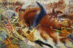 city paintings - city by umberto boccioni