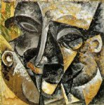 dynamism of a man s head by umberto boccioni painting