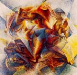 soccer by umberto boccioni painting