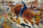 city paintings - the city rises by umberto boccioni