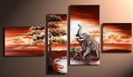 african a little elephant painting 86280