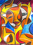 african abstract art 2 paintings: 86278