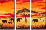 african animals group art 1 paintings: 86281