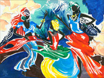 african dancers 1 paintings: 86289