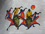 african dancers 2 paintings: 86290