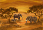 african elephant family painting 86298