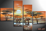 african elephant group art 7 painting