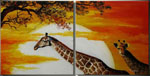 african giraffe group art 6 by unknown artist painting