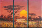 african sunset group art 1 by unknown artist painting