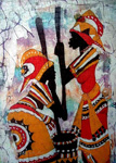 african vintage tribal painting 86334