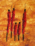african wanyuki maasai family by unknown artist painting