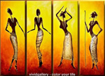 african women group art 3 painting