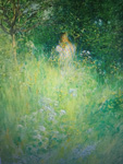 carl larsson fairy kersti and the meadow by unknown artist painting