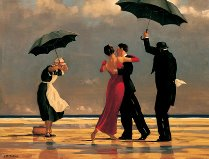 custom art dancing on beach by unknown artist painting