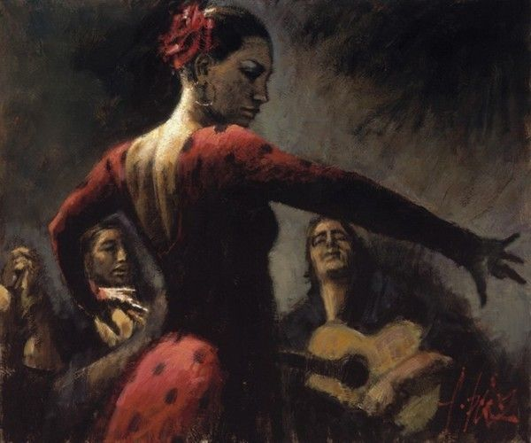 fabian perez tablao flamenco iii by unknown artist painting